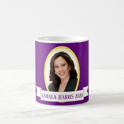 Kamala Harris Portait on Purple Coffee Mug