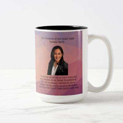 Kamala Harris, teens/kids, 2-sided, Two-Tone Coffee Mug