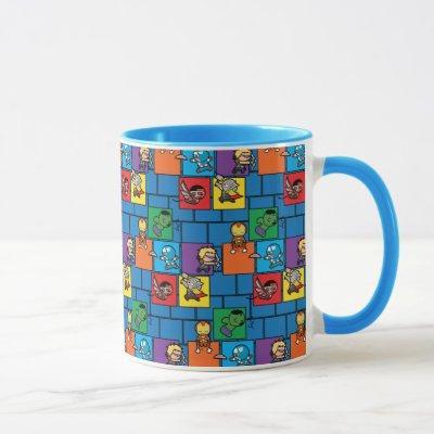 Kawaii Avengers In Colorful Blocks Mug