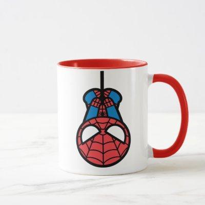 Kawaii Spider-Man Hanging Upside Down Mug