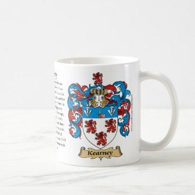 Kearney, the Origin, the Meaning and the Crest Coffee Mug