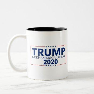 Keep America Great 2020 Election Donald Trump Two-Tone Coffee Mug