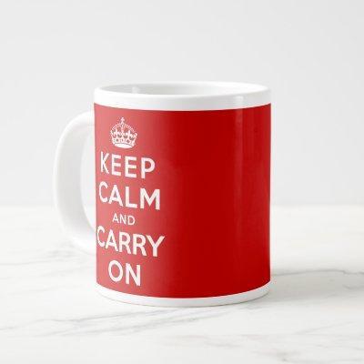 Keep Calm and Carry On Large Coffee Mug