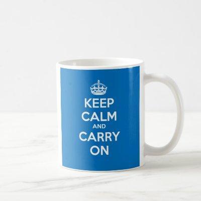Keep Calm and Carry On Mug - Blue