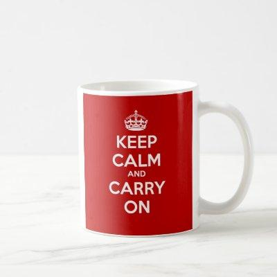Keep Calm and Carry On Mug - Red
