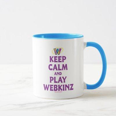 Keep Calm And Play Webkinz Mug
