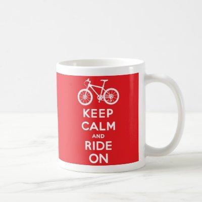 Keep Calm and Ride On Coffee Mug