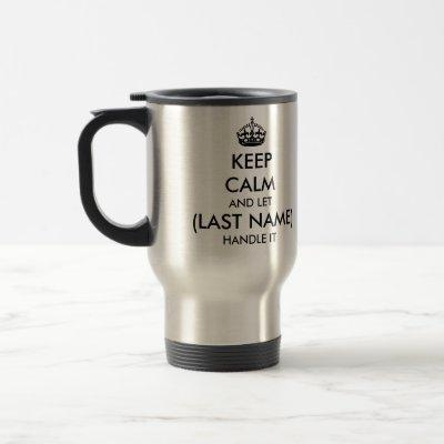 KEEP CALM / Travel Mug