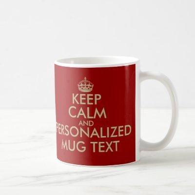 KeepCalm Mugs   Personalizable faux gold template