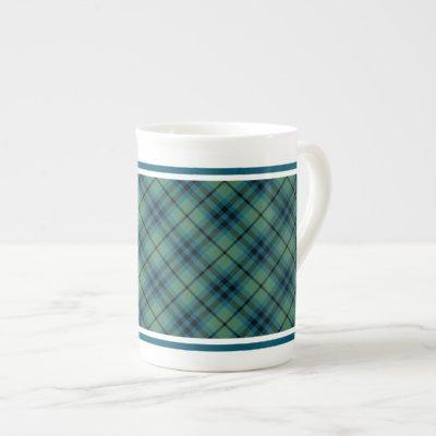 Keith Family Ancient Tartan Light Green Plaid Bone China Mug