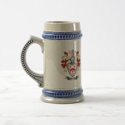 Kennedy Family Crest Coat of Arms Beer Stein