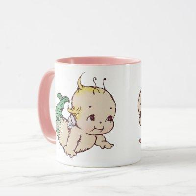 Kewpie Mermaid Coffee Mug