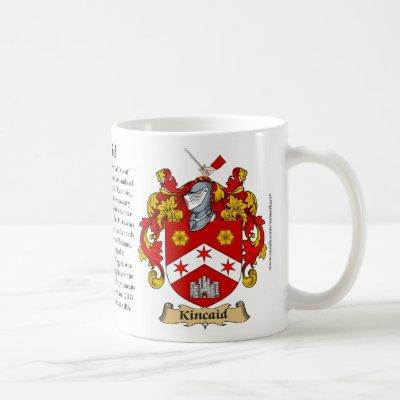 Kincaid, the Origin, the Meaning and the Crest Coffee Mug