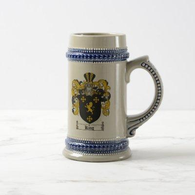 King Coat of Arms Stein / King Family Crest Stein