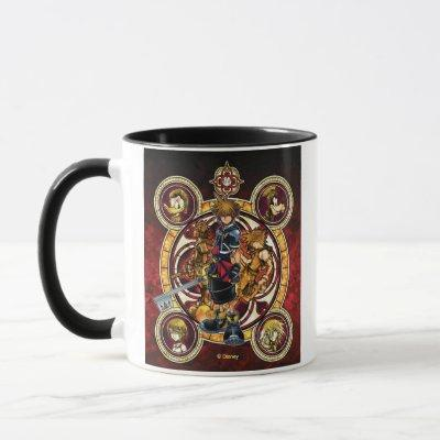 Kingdom Hearts II | Gold Stained Glass Key Art Mug