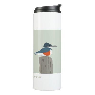 Kingfisher bird thermal mug