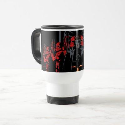 Kylo Ren Flanked By Sith Troopers Travel Mug