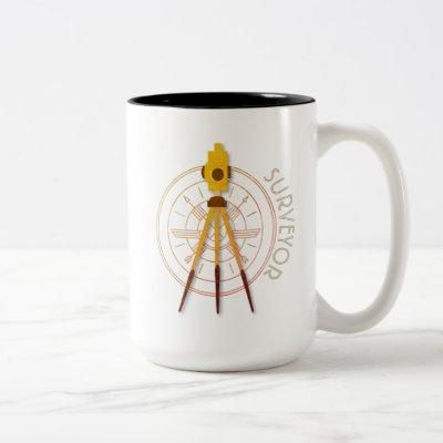 Land Surveyor Compass Two-Tone Coffee Mug