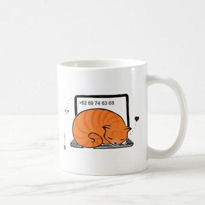 Laptop Cat Bed (Orange Tabby) Coffee Mug