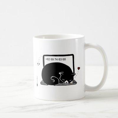 Laptop Cat Bed (Tuxedo - Black&White) Coffee Mug