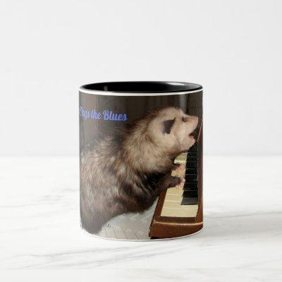 Large Mug with Singing Possum
