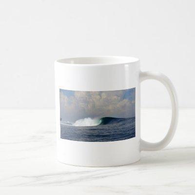 Large ocean surfing wave coffee mug