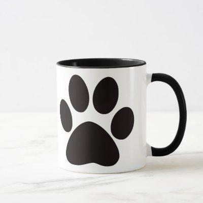 Large Paw Print Coffee Mug
