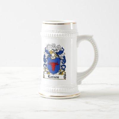 Larsen Family Crest Beer Stein