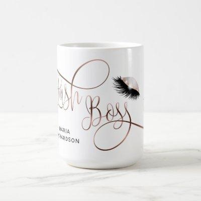 Lash Boss Lash Artist Eyebrow Lashes Rose Gold Coffee Mug