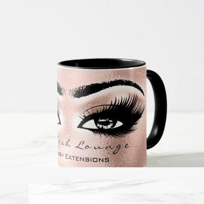 Lash Extension Eye Makeup Artist Studio Rose Blush Mug