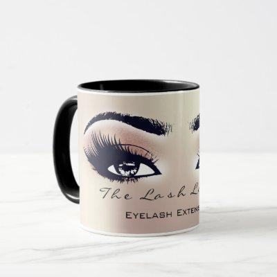 Lashes Extension Eye Makeup Studio Peach BlushPink Mug