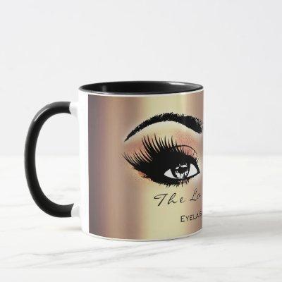 Lashes Extension Makeup Studio Peach Sepia Gold Mug
