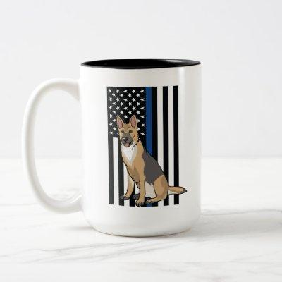 Law Enforcement K9 Police Dog Two-Tone Coffee Mug