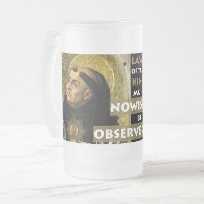Laws of this Kind Aquinas Resistance frosted mug