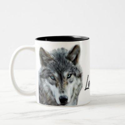 Leader of the Pack Wolf Woodland Theme Two-Tone Coffee Mug