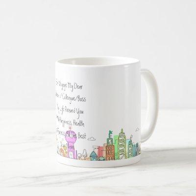 Leaving Gift Personalized Country City Moving Coffee Mug