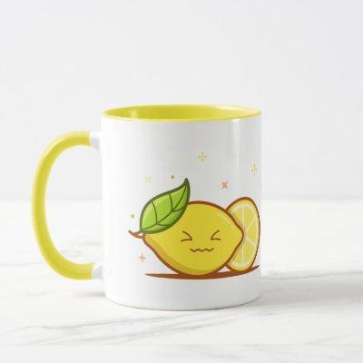 Lemon Emoji Mug