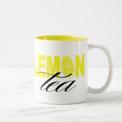 Lemon Tea Two-Tone Coffee Mug