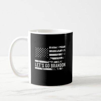 Let's go Brandon Funny Patriotic American Flag Coffee Mug