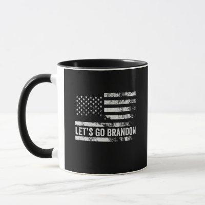 Let's go Brandon Funny Patriotic American Flag Mug