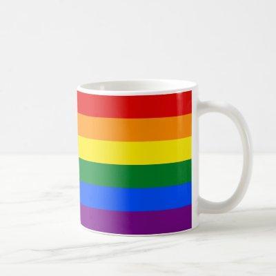LGBT Rainbow Gay Pride Flag Coffee Mug