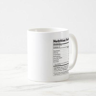 LIBERAL TEARS MUG WITH FUNNY SUPPLEMENT FACTS