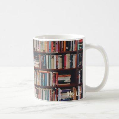 Library Bookshelf Photo Mug