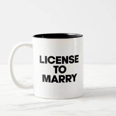 License To Marry. Officiant gift Two-Tone Coffee Mug