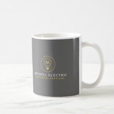 LIGHT BULB MONOGRAM LOGO for ELECTRICANS Coffee Mug