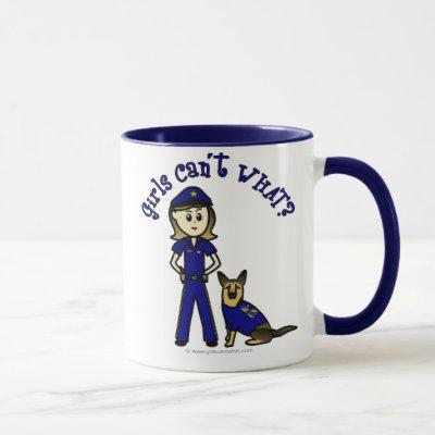 Light K9 Police Girl Mug