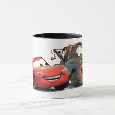 Lightning McQueen and Tow Mater Disney Mug