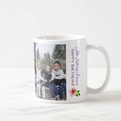 Like Sisters Forever Happy Birthday Personalize Coffee Mug