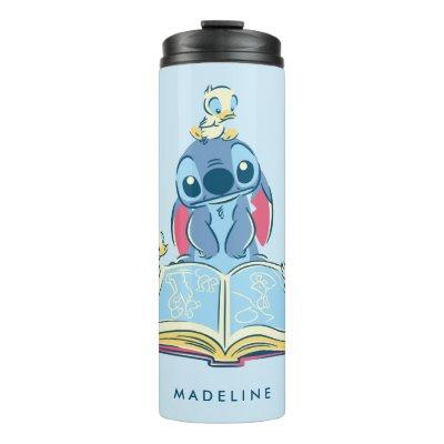 Lilo & Stitch   Reading the Ugly Duckling Thermal Tumbler