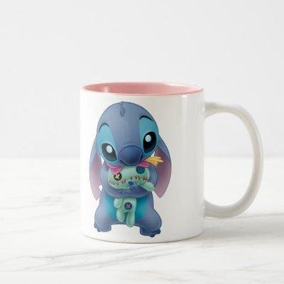 Lilo & Stitch | Stitch with Ugly Doll Two-Tone Coffee Mug
